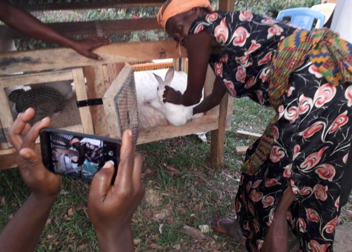 A wowan Trianee during the Rabbit Production Training.
