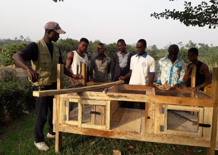 Construction of Rabbit Cage during the Training Session