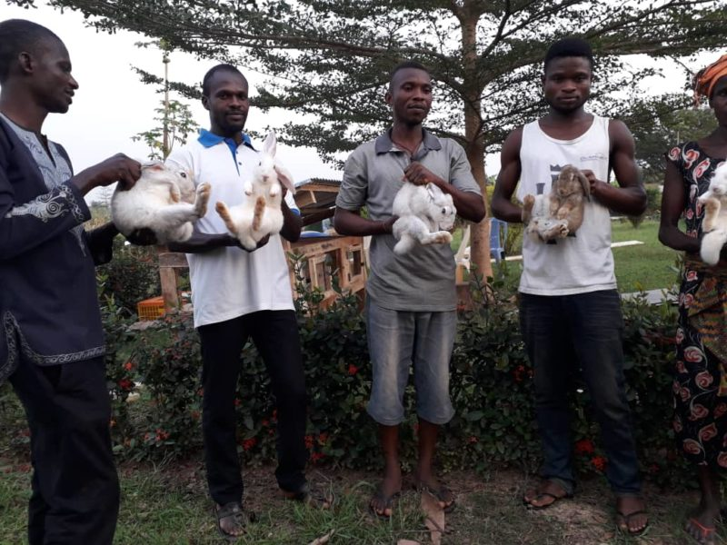 Some beneficiaries of the Rabbit Traning